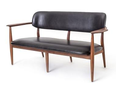 Leather small sofa SLOW | Small sofa