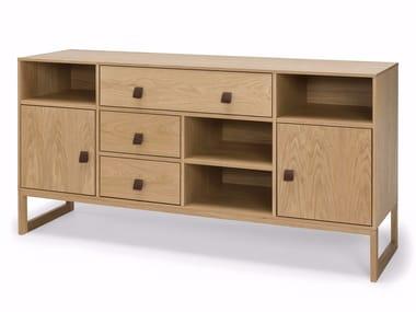 Wood veneer sideboard SLUSSEN | Sideboard