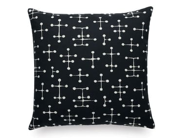 Motif square fabric cushion SMALL DOT PATTERN DOCUMENT REVERSE