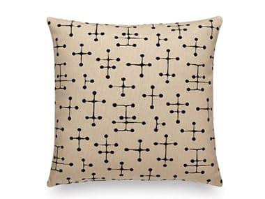 Cuscino a motivi quadrato in tessuto SMALL DOT PATTERN DOCUMENT