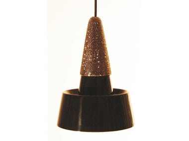 LED ceramic pendant lamp with Swarovski® Crystals SMALL LIGHT CRYSTAL