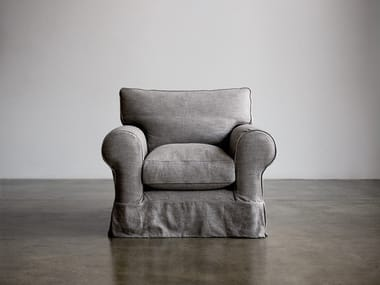 Armchair with armrests SMALL ROLL ARM