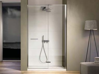 Box doccia in nicchia con porta a battente SMART SMNI