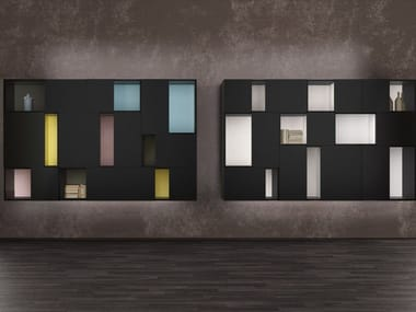 Sectional lacquered storage wall SMART