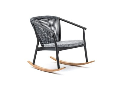 Rocking easy chair with armrests SMART | Rocking easy chair