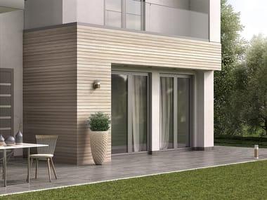 Finestra a battente a taglio termico in alluminio e legno SMARTIA S67