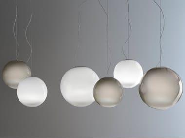 LED handmade blown glass pendant lamp SMOKE