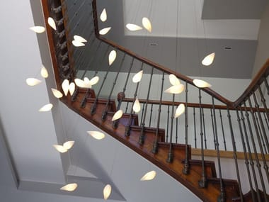LED glass pendant lamp SMOON BIRDIE LIGHT