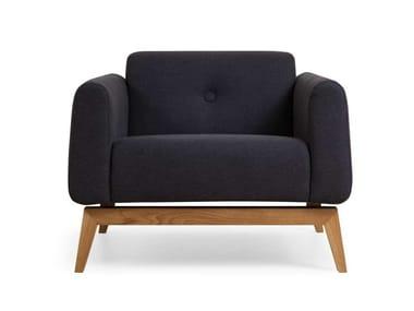 Fabric armchair SMOOTH | Armchair