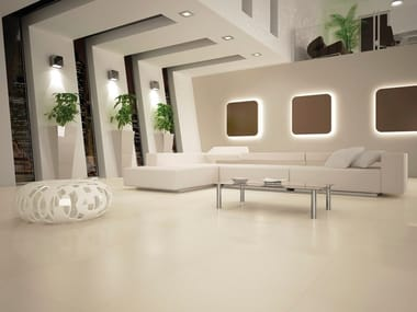 Porcelain stoneware wall/floor tiles with concrete effect with resin effect SNOW