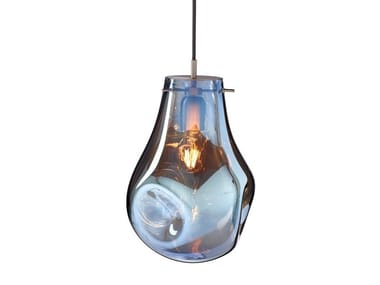 LED blown glass pendant lamp with dimmer SOAP | Pendant lamp