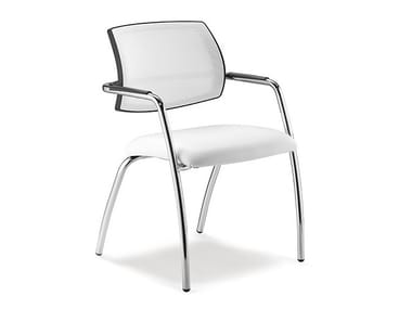 Reception chair with armrests SOCIAL | Chair with armrests