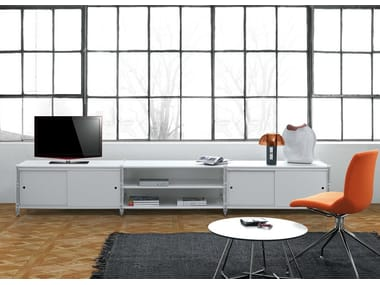 Low lacquered TV cabinet SOCRATE HOME | Lacquered TV cabinet