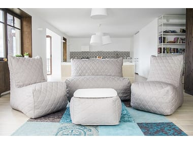 2 seater fabric sofa SOFA SEAT QUILTED NORDIC
