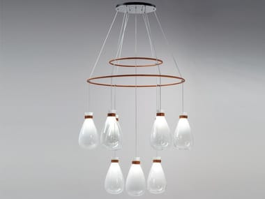 Blown glass chandelier SOFFI | Chandelier