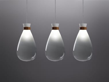 Glass pendant lamp SOFFI