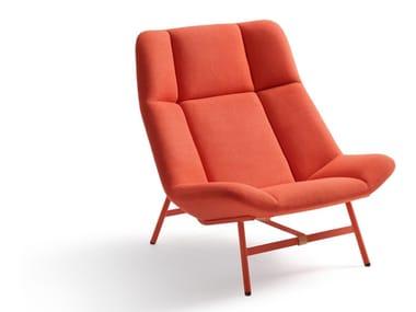 High-back fabric armchair SOFT FACET   Fabric armchair