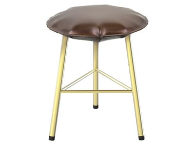 Iron stool with footrest SOFT IRON 04