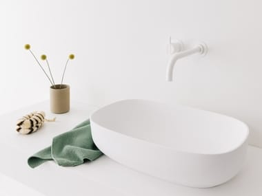 Countertop oval Cristalplant® washbasin SOFT | Oval washbasin