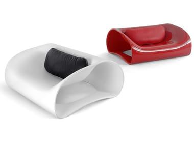 Polyurethane armchair SOFT PILL