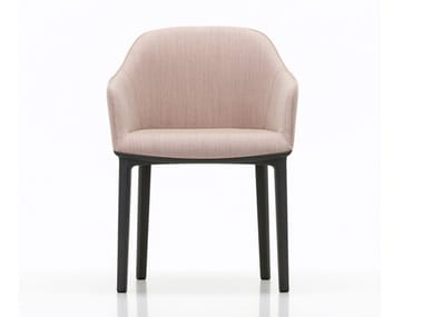 Upholstered fabric chair with armrests SOFTSHELL CHAIR FOUR LEGGED BASE