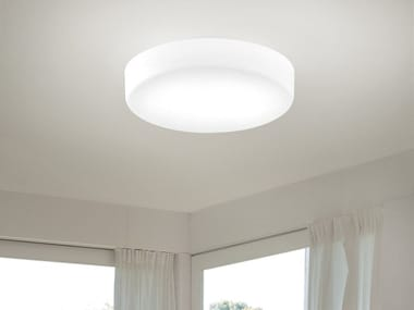 Satin glass ceiling light SOGNO PL