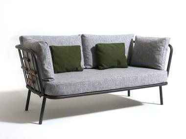 Fabric garden sofa with removable cover SOHO | 2 seater garden sofa