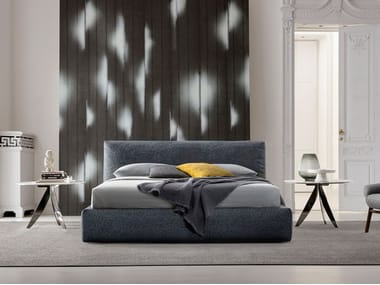 Fabric bed with upholstered headboard SOHO