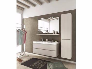 Mobile lavabo sospeso con cassetti SOHO S15