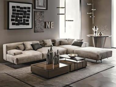 Sectional modular leather sofa SOHO