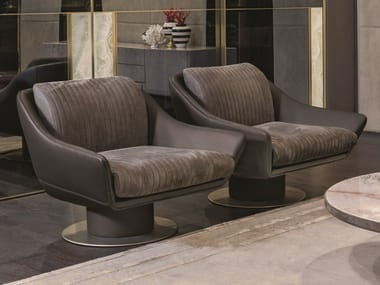 Swivel armchair with armrests SOL | Armchair