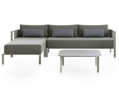 Divano da giardino in alluminio termolaccato con chaise longue SOLANAS | Divano componibile