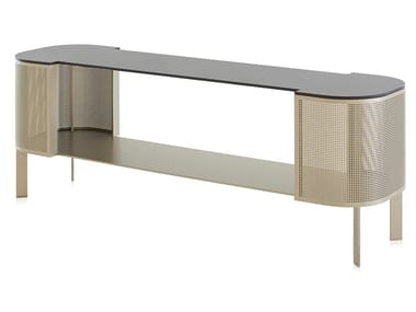 Thermo lacquered aluminium sideboard SOLANAS | Sideboard