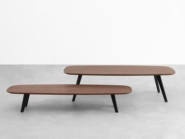 Rectangular walnut coffee table SOLAPA | Walnut coffee table