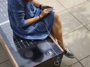 Bench with USB BLOCQ SOLAR