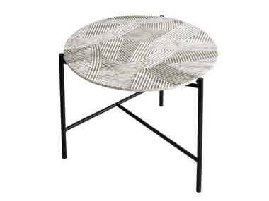 Round Carrara marble coffee table for living room SOLCO | Coffee table
