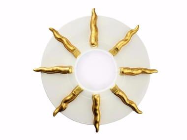 Applique a LED in ceramica SOLE | Applique