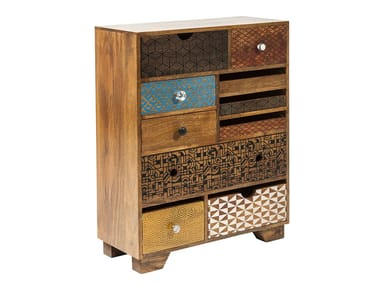 Wooden chest of drawers SOLEIL | Chest of drawers