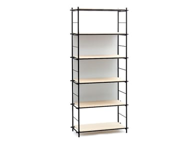 Open metal shelving unit SOLFERINO
