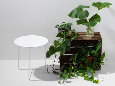 Tavolino rotondo in lamiera SOLID SIDE TABLE #03
