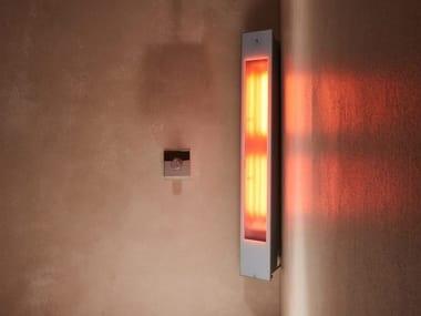 Doccia solare a raggi UV e infrarossi angolare SOLO | White