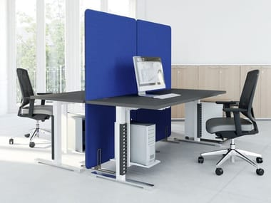 Free standing sound absorbing workstation screen desktop partition SONIC | Free standing workstation screen