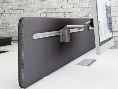 Sound absorbing workstation screen desktop partition SONIC | Sound absorbing workstation screen