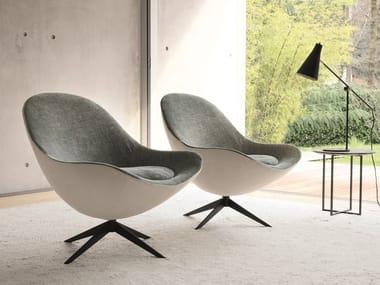 Armchair with 4-spoke base SOOR