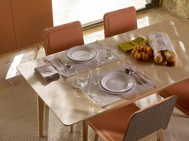 Tavolo da pranzo rettangolare in legno SOPA