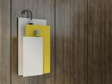 Porta guarda-chuvas em aço de parede SOU WALL
