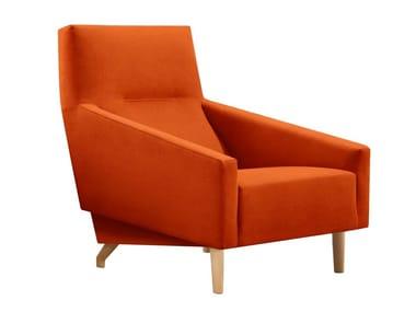 Fabric armchair SOUL   Armchair with armrests