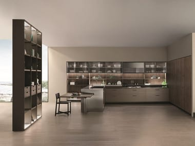 Lacquered linear kitchen SOUL | Linear kitchen