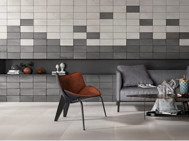 Porcelain stoneware wall/floor tiles with concrete effect SOUL