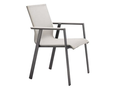 Stackable aluminium garden chair SOUL